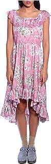 Anna Sui Women'S Lilac Cornflower Jacquard High Low Dress