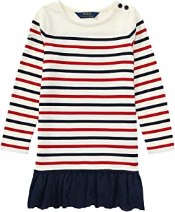 Polo Ralph Lauren Kids - Striped Cotton Jersey Dress (Little Kids)