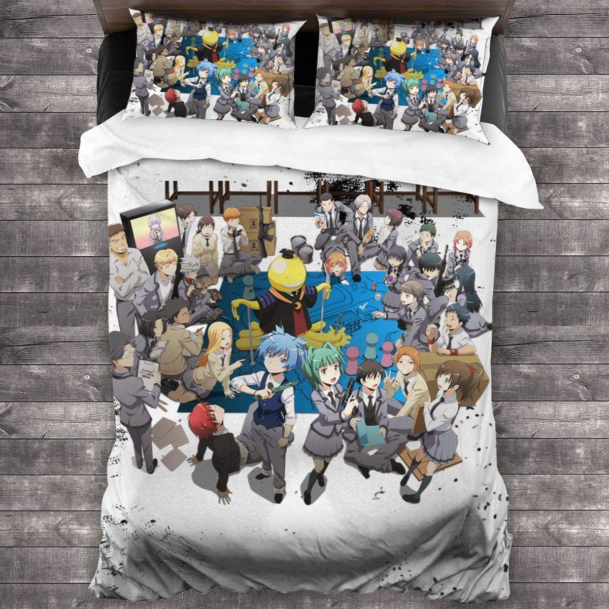 SUNERLADY サービス 限定品 Assassination Classroom 3-Piece Bedding Set Micro Bed