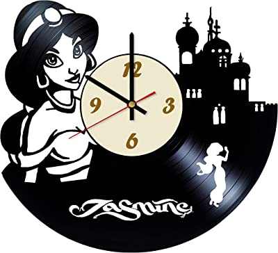 La Bella Casa Jasmine Aladdin Disney Design Vinyl Wall Clock - Get Unique Wall Home Decor