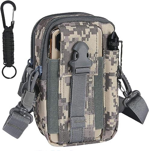 flintronic Bolsa Cintura Táctica, Bolso Cinturón Táctica Militar Compacta 1000D Nylon para Herramientas Pequeñas de M...