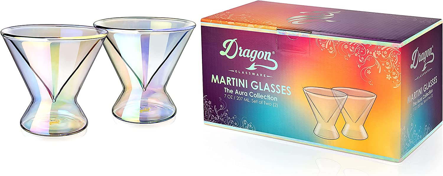 Dragon Glassware Martini Selling and selling Glasses Selling and selling Stemless Iridescent Lead-Free