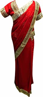 Girls ready made Asian kids stitched Bollywood saree 1210