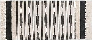 U'Artlines Tapis en Coton,Tapis Chambre avec Frange Tissé à la Main Tapis avec Touffeté et Lignes Salon Lavable en Machine...