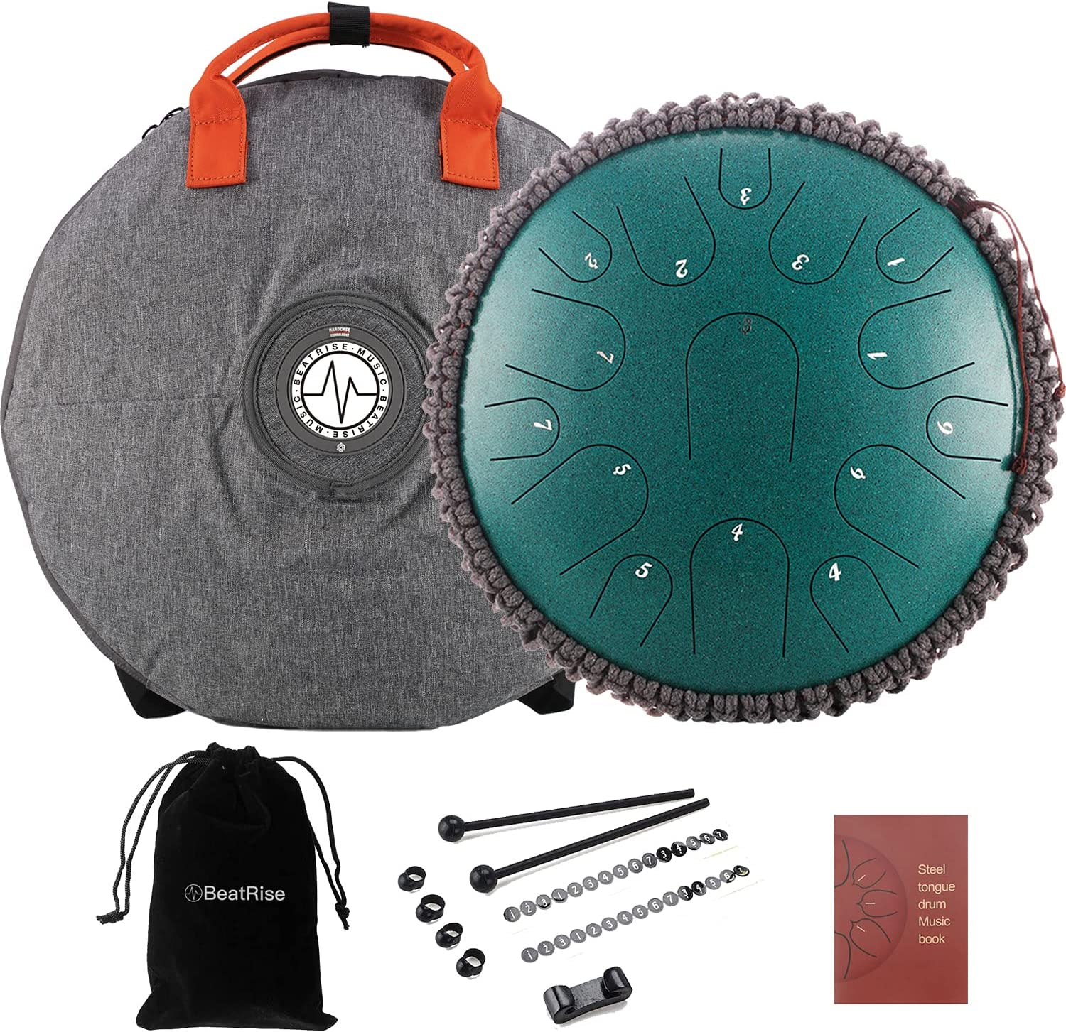 Challenge the lowest price of Japan ☆ BeatRise Tongue Drum 13 Inch Professi Popular brand in the world 15 Notes Steel