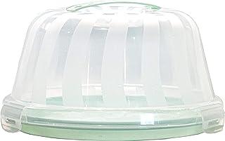 Top Shelf Elements Carrier for Bundt Cakes, Pie Carrier, Cheesecake Carrier, Stylish Cake Carrier with Pretty Seafoam Green Color