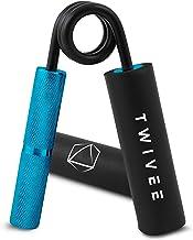 TWIVEE - Vingerhalter voor maximale grip – onderarmtrainer met gripkussen en tas – Gripper van gehard staal en aluminium –...
