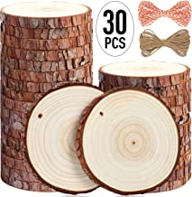 "5ARTH Natural Wood Slices – 30 Pcs 3.5""- 4"" Craft Unfinished Wood kit.."