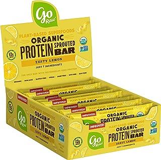 Go Raw Protein Bars, Zesty Lemon   Gluten Free Energy Bar   Organic   Vegan   Natural (12 Bars)