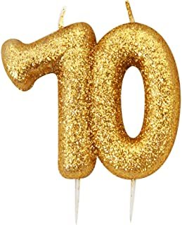 Gold Number Candle - 70