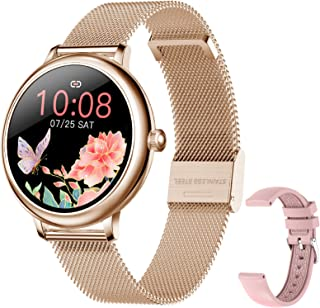 Smart Watch for Women, Smart Watch for Android iPhones with Female Function, Waterproof Fitness Activity Tracker with Heart Rate Blood Pressure Monitor Call Reminder