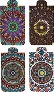 Heartzy Set of 4 Chakra Mandala Magnetic Bookmark Combo | Gift for Booklovers