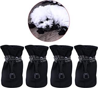 YAODHAOD Dog Boots Paw Protector, Anti-Slip Dog Shoes,These Comfortable Soft-Soled Dog Shoes are with Reflective Straps, for Small Dog …