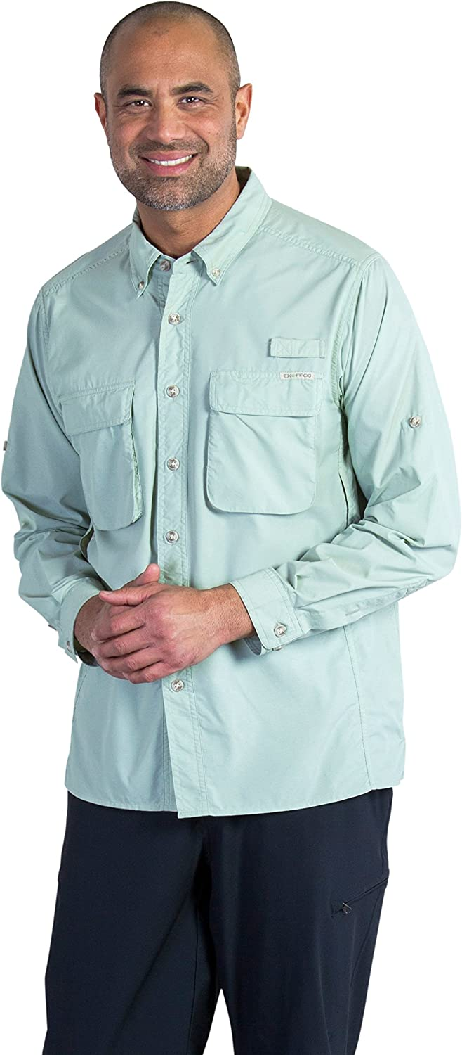 ExOfficio Men's Air Strip Long Sleeve, Desert Sage, Small