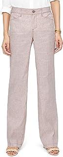 [エヌワイディージェイ] レディース カジュアルパンツ NYDJ Stripe Linen & Cotton Trousers [並行輸入品]