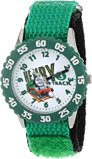 Thomas and Friends Kids' W000720 Stainless Steel Time Teacher Green Bezel Green Velcro Strap Watch