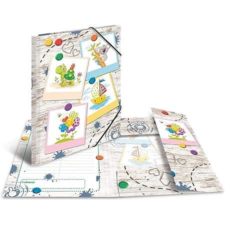 HERMA 19796 Carpeta de dibujo Jardín de infancia con motivo de los Amigos de la caja de arena, A3, cartón resistente, con impresión interior, carpeta de 1 palmo