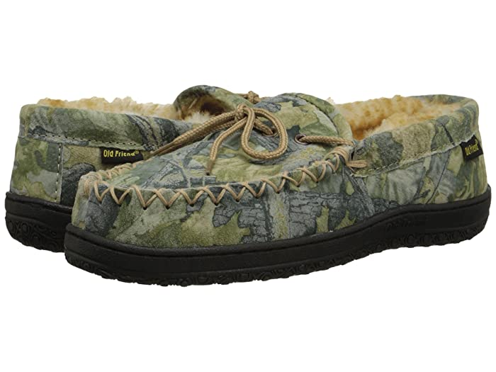 Old Friend  Camouflage Moccasin (Camouflage W/Stony Fleece) Mens Slippers