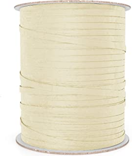 BonBon Paper Ivory Ribbon   Natural Paper Raffia Ribbon for Giftwrapping in Creamy Off White Ivory