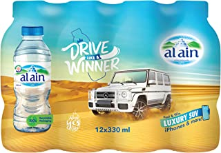 Al Ain Bottled Drinking Water - 330ml (Pack of 12)