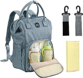 EverVanz EverVanz Multifunktions-Babytasche, Windelrucksack mit großem Fassungsvermögen, wasserdichte Wickeltasche, strapazierfähiger Reiserucksack, stilvolle Umhängetaschen für Mutter/Vater