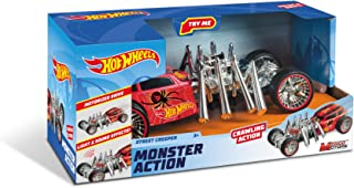 Mondo - Hot Wheels Monster Action Creeper, Silver/Red, 51203