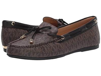 MICHAEL Michael Kors Sutton Moc (Brown/Black) Women