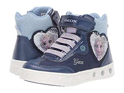 Geox Kids Frozen Skylin 6 (Toddler/Little Kid) (Navy/Lilac) Girl