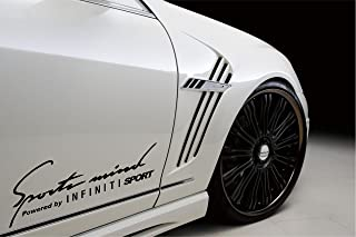 2 - Sports Mind Powered By Infiniti Sport Decal Sticker Black