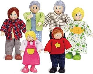 Hape Happy Doll Family - Caucasian, (Set of 6)