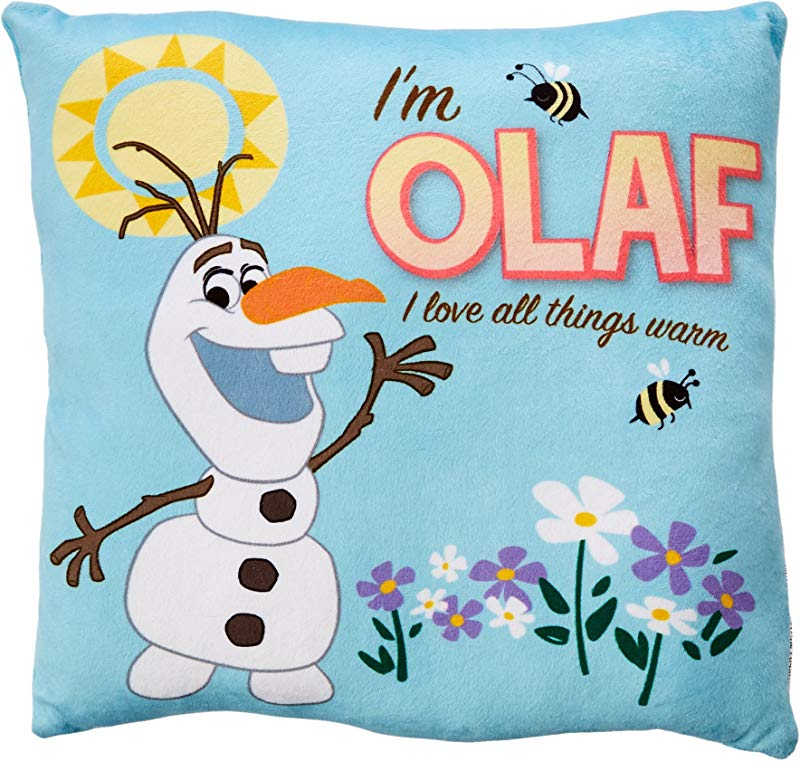 Disney Frozen Olaf Decorative Pillow 11 By 11