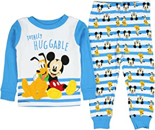 Disney Baby Boys' Toddler Mickey Mouse Pluto Totally Huggable Pajama 2 PC Set