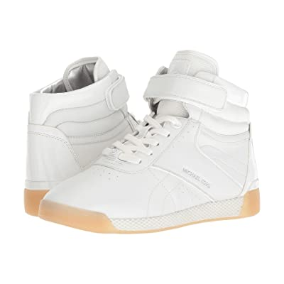 MICHAEL Michael Kors Addie High Top (Optic White Nappa/Patent/Small Air Mesh) Women