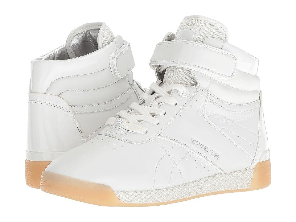 MICHAEL Michael Kors Addie High Top (Optic White Nappa/Patent/Small Air Mesh) Women