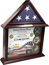 DECOMIL Flag Display Case with Certificate Customize (Flag Case with Certificate)