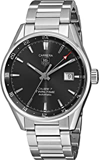 TAG Heuer Men's WAR2012.BA0723 Analog Display Automatic Self Wind Silver Watch