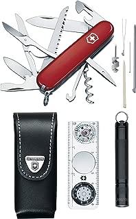 Victorinox Swiss Army Traveler Set Pocket Knife (Red)