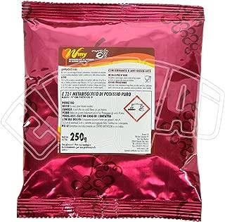 Metabisulfito de potasio, inhibidor selectivo para enología, desinfectante (250 g)