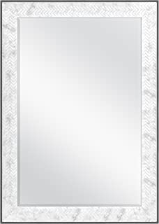 MCS 24x36 Inch Chevron, 30x42 Overall Size, Marble (66946) Mirror, 30 x 42 Inch,