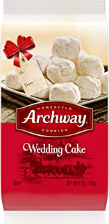 Archway Cookies, Wedding Cake Cookies, Holiday Limited Edition, 6 Ounce