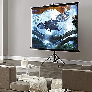 [in.tec] Beamer kanvas 200 x 200 cm stående duk hemmabio 113' projektionslinje 4K 3D