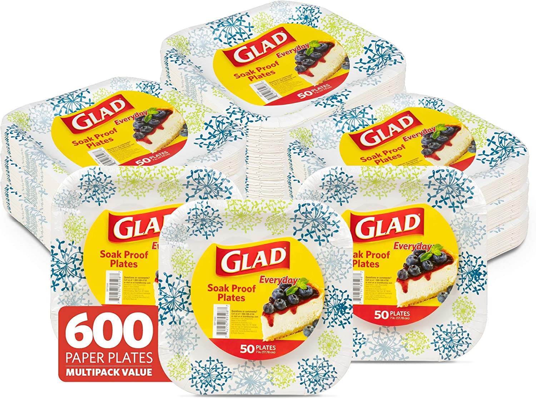 Glad 7 Superlatite Inch Square Sale Paper Soak Proof Plates Pl Disposable