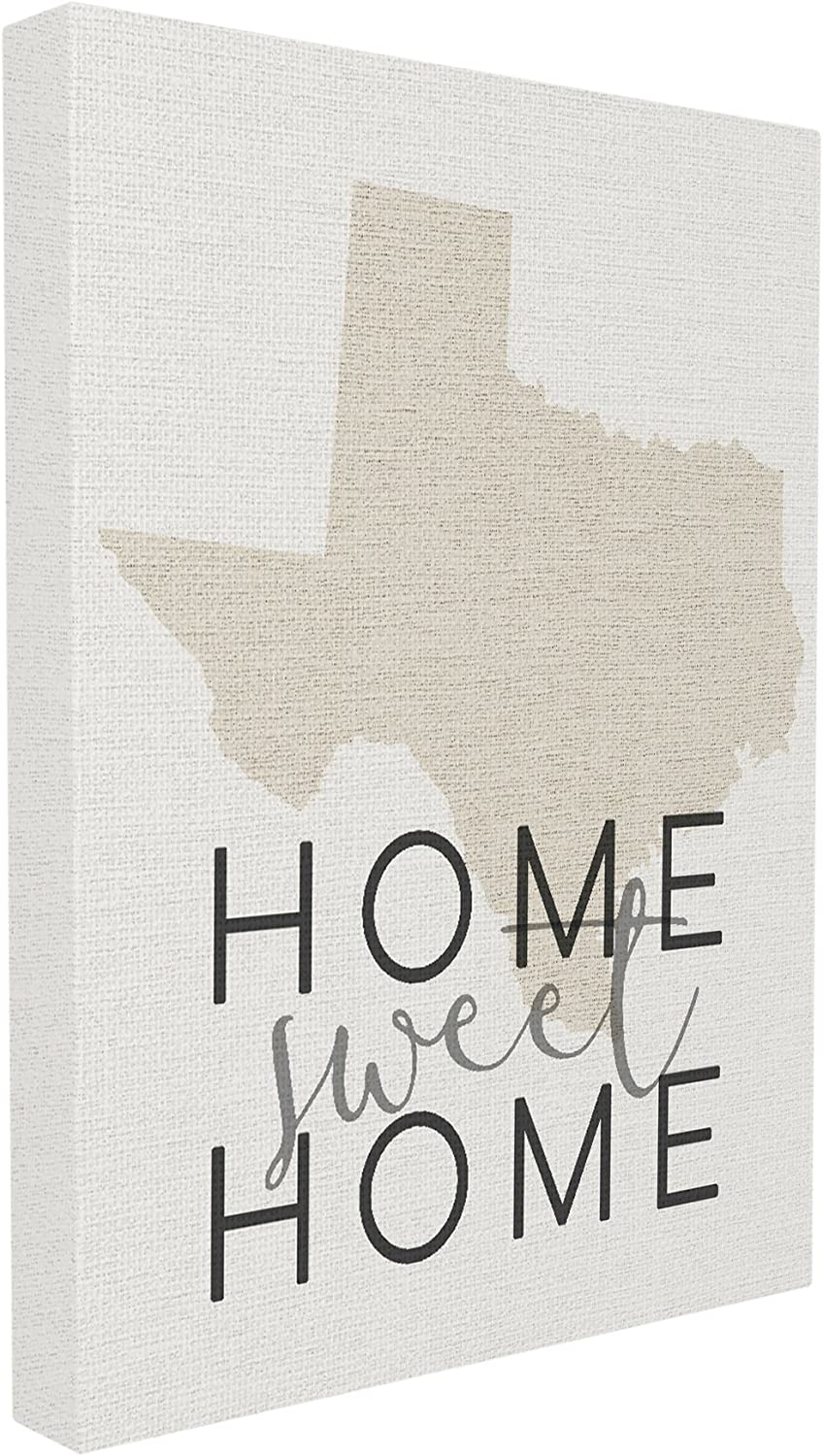 Stupell Industries Home Décor Collection Sweet Home Texas Typography Stretched Canvas Wall Art