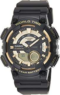 Casio Men's Black Dial Resin Analog-Digital Watch - AEQ-110BW-9AVDF