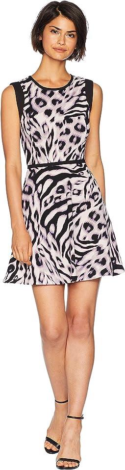 Knit Imperial Leopard Jacquard Dress