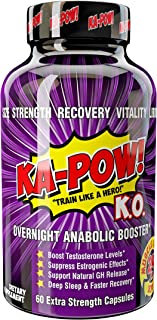 Overnight Testosterone Booster for Men - KA-POW! KO The Ultimate Natural Test Boosting Sleep Aid Supplement - Maximize Workouts, Build Massive Muscle, Reduced Estrogen, Accelerate Muscle Recovery!