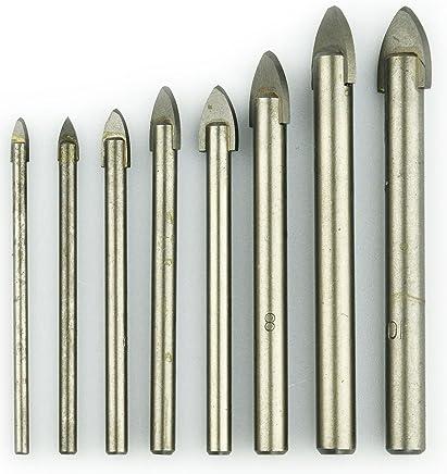 Forets à verre NOVOTOOLS 3–10mm (lot de 8pièces) Foret pour carrelage pour carrelage, verre, céramique, miroir, Porcelaine, marbre