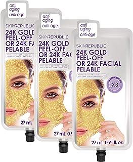 Skin Republic 24K Gold Peel- Off Face Mask Treatment 3 Treatments per pack 3 Pack