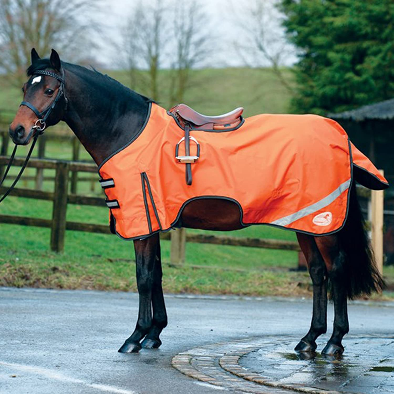 Masta MR358 Reflective Waterproof Breathable 600D Horse Exercise Rug Size 5'37'0