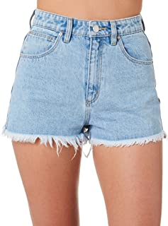 A.Brand Women's A High Relaxed Emb Short Fitted Blue